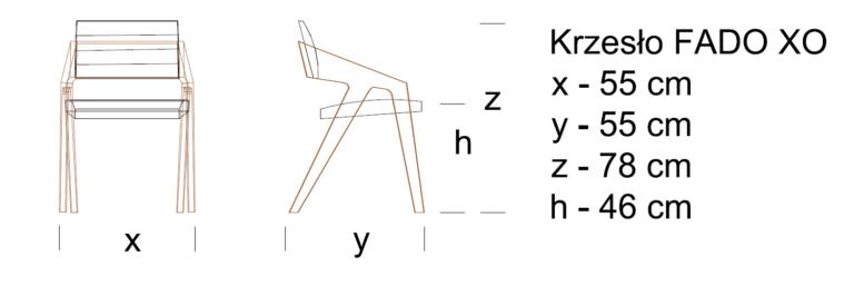2D Krzesło FADO XO