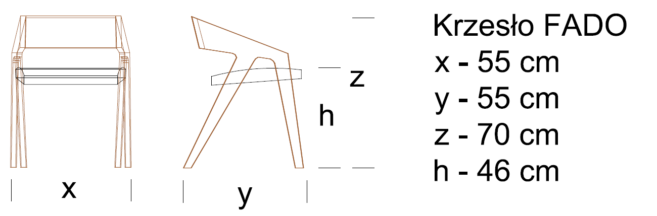 2D Krzesło FADO